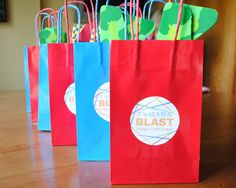 Lazer Tag Birthday Party Goodie Bags