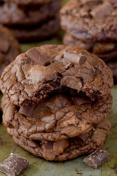 ... | Chocolate chip cookies, Shortbread cookies and Cookie recipes