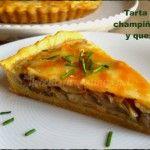 Tarta de champiñones y queso