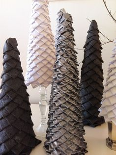 The $10,000 question is whether I have the patience for all the folded fabric of these DIY winter trees.