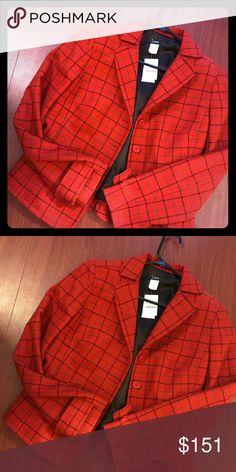 J crew blazer /jacket Red plaid new with tags  Size small Jackets & Coats Blazers