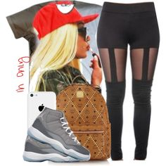 ○Red Grey ? by jstrib on Polyvore featuring polyvore, fashion, style, MCM and NIKE