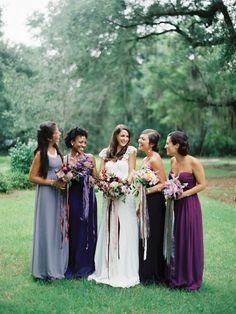 i think i am starting to like the idea of different  shades of a color for the bridesmaids dresses