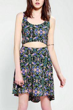 Lush Silky Waist Cutout Dress #urbanoutfitters