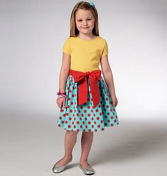 Imagine this skirt in spring colors for Easter: Kwik Sew K3936, in stock at Les Fabriques