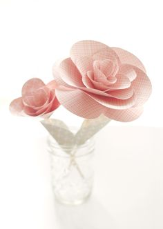 DIY Paper Flower Bouquet for a Bridal Shower