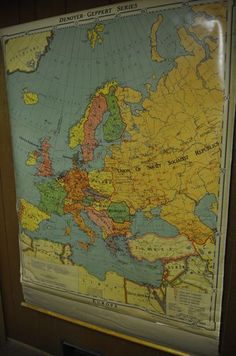 Denoyer Geppert Series Europe 1967 Map Made in USA Map J2 Political Europe | eBay