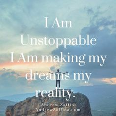 Affirmation of the day // You are unstoppable. (To check out more affirmations click on the picture)