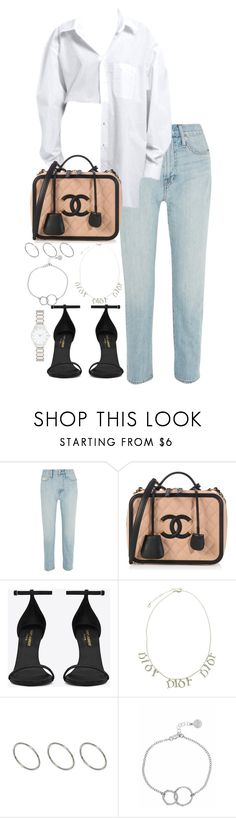 """Untitled #4515"" by theeuropeancloset ❤ liked on Polyvore featuring Madewell, Yves Saint Laurent, Christian Dior, ASOS, Chupi and Forever New"