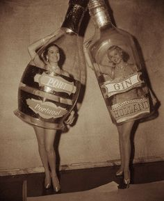 Ships in a bottle? Please! I got dames in bottles! - Retro Halloween Costume ideas - vintage Halloween idea