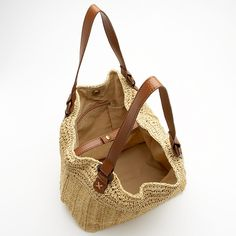 Seagrass Straw Crochet Tote Bag – Natural