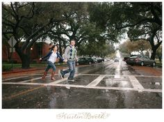 {Ashley and James} Love in the Rain | Pasadena Engagement Photos