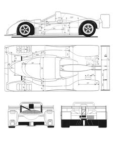 Ferrari 333 SP blueprint