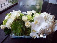 contemporary long rectangular orchid arrangements | PK Floral Design Demo: Floral Design Demo Class Sunday, January 30th ...