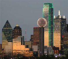 Dallas, TX...two of our kids live in Dallas.  Angela got married in the building that is outlined in green lights on the 69th Floor (City Club)