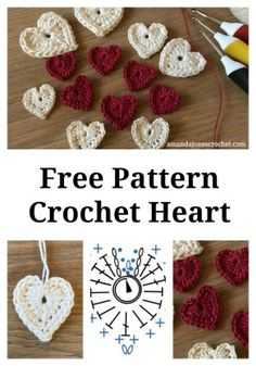 Crochet Roses Heart pattern 2018 pin - Free Crochet Heart Pattern for valentines, a wedding or to share because you can. Free Heart Crochet Pattern, Crochet Applique Patterns Free, Crochet Flower Patterns, Crochet Chart, Crochet Motif, Free Crochet, Knitting Patterns, Free Pattern, Knitting Charts