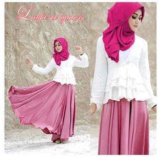 Set baju muslim LATIFA SET 4in1 harga www.ramailancar.com www.facebook.com/tokobajurajutmurah 0857 2212 6318