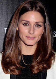 Olivia Palermo con i capelli castani broux