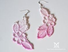 Fantastically feminine dip dye lace earrings take only a few minutes to  make. (@ A Matter of Style)