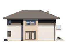 DOM.PL™ - Projekt domu TP Enes CE - DOM TP2-48 - gotowy koszt budowy House Outside Design, Modern Architecture House, Design Case, Gazebo, House Plans, Shed, Outdoor Structures, Outdoor Decor, Home Decor