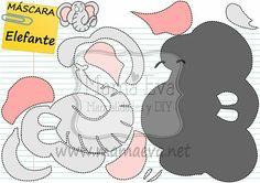 Máscara de elefante. Muchas más en www.mamaeva.net. Visítanos!