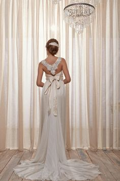 adore the back detail on this wedding dress