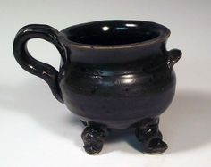 I have one of these and I love it  ! ! !     Cauldron Mug Teacup   Merry Meet Dancing by BigSkyArtworks on Etsy,