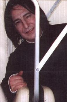 Alan Rickman in Severus Snape costume