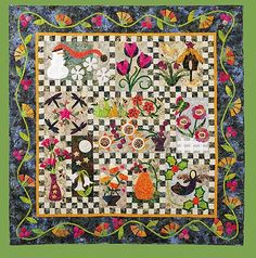 """Pat Sloan: Brambleberry Friends in my """"New Ideas in Applique Book"""". Hosting a sew along this year.. we started in April with the Dragonfly block. click here to get the book http://patsloan.biz/patsloansnewideasinapplique.aspx"""