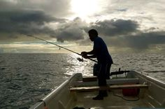 …or go fishing above the water in Central Fiji.