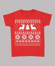 Red Reindeer & Christmas Tree Tee