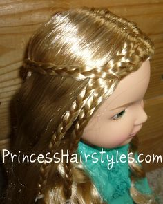 This link goes to a page with hairstyles tutorials for both girls and dolls! (doll braid #3)