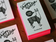 Check where this card came from! Web page full of great designs, using colour edging letterpress! LOVE THEM!