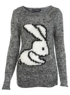 iWant $68 Knitted Rabbit Sweater by Miss Selfridge