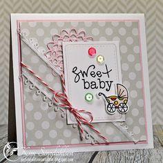 Sweet Baby by atsamom, via Flickr - Includes Viva la Verve card sketch & color inspiration challenge