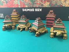 Turtle Strongholds - Rising Sun | Image | BoardGameGeek Rising Sun Board Game, Paint Games, Sun Painting, L5r, Fantasy Miniatures, Chinese Art, Board Games, Sunrise, Projects To Try