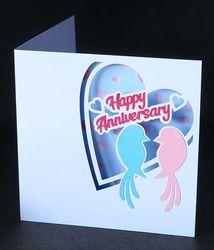 Love Birds Anniversary Card on Craftsuprint - View Now!
