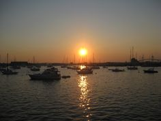 Sunset over Newport Harbor, RI. Love this town!