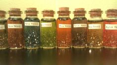 this person made good luck potions for her residents during finals! so cute!