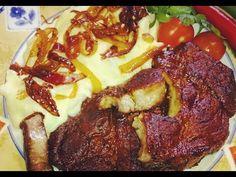 #pork #ceafadeporc #oven #frit #fried #porkneck #nackensteak #sojasouce #meat #lunch #fattoincasa #finom #food #garlic #meatlover #onion #carne #dinner#oliveoil #steak #steaks #pork #porkchops #friptura #frigarui #reteta #recipe #recept #porksteak #soysauce #flask #meatsweats #food #smör#potatoes #piper #fraged #cumgatimcarnedeporcfrageda #ceafalacuptorpascupas #fripturadeporc #fripturaceafadeporc #retetapentrupasti #porkchopsinovenstepbystep #ceapacaramelizata #ceafalacuptorsuperfraged… Oven Pork Chops, Romanian Food, Food Stations, Meat Lovers, Soy Sauce, Food Videos, Onion, Garlic, Potatoes