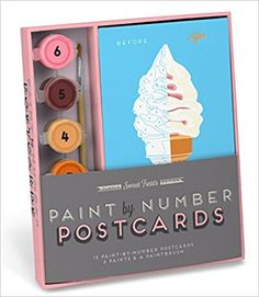 Knock Knock Sweet Treats Paint-by-Number Postcards Kit: Robert Mahar, Hannah Berman: 9781601069481: Amazon.com: Books
