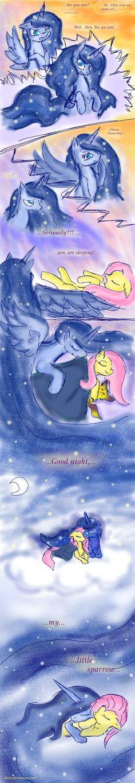 Luna: sweet dreams Fluttershy by Flutti