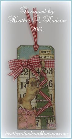 Heather A Hudson: Vintage inspired Christmas tag Christmas Bingo Cards, Christmas Tag, Simple Christmas, Christmas Crafts, Xmas, Diy Ideas, Craft Ideas, Card Crafts, Winter Theme
