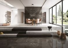 Porcelain Pietra Grey Slab and Tiles - Aeon Stone + Tile