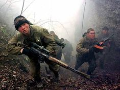Russian GRU Spetsnaz, Army Special Ops Forces, on training ops in the mountains.