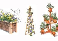 Three Projects for Gardeners Thrill the garden lover in your family with one(or more!) of these easy-to-make projects. by Tim Johnson Before you set aside your push sticks and dust mask for the season, make something to enjoy all summer. Each one of these projects takes only about a day to build, once you've got all the materials. They're designed for outdoor use—made from rot-resistant woods and assembled with weatherproof …