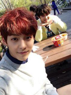 BTOB Minhyuk and Hyunsik
