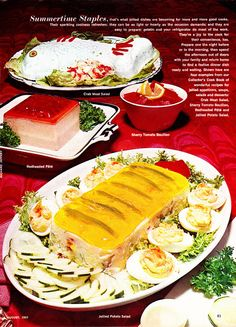I see a dead penguin jello mold in the back, and I do believe I spy actual Anchovies in Aspic up front.  Double Whammy!