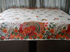 Pair of Vintage Thanksgiving Tablecloths; $25.00