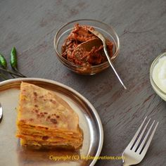 Mixed Vegetable Paratha - Indian Flat bread stuffed with veggies